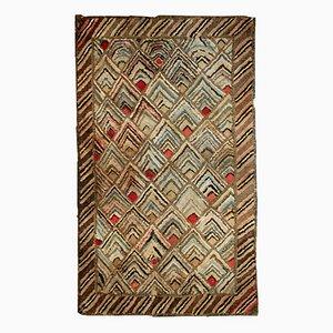 Tapis Crocheté Fait Main, Amérique, 1900s