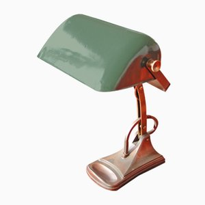 Lámpara modernista con base de latón, década de 1900