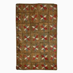 Antiker Handgeknüpfter Amerikanischer Teppich, 1880er