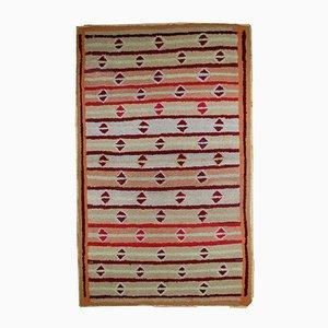 Antiker Handgeknüpfter Amerikanischer Teppich, 1890er