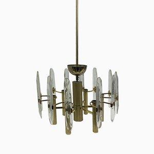 Lámpara de araña Mid-Century moderna de Gaetano Sciolari, años 60