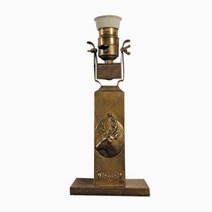 Lampada Art Nouveau in ottone di BAG Turgi, 1901