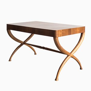 Table Basse Architecturale en Bois, Italie, 1940s