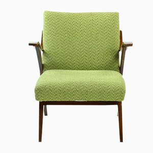 Green Bentwood Lounge Chair from Mier, 1960s