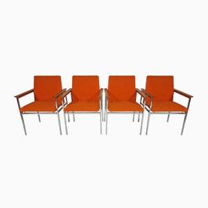 Moderne Vintage Stühle von Sigvard Bernadotte, 4er Set