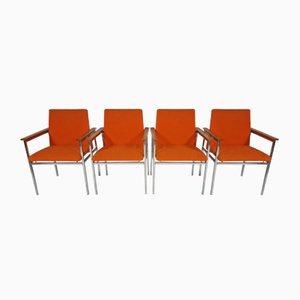 Vintage Modernist Chairs by Sigvard Bernadotte, Set of 4