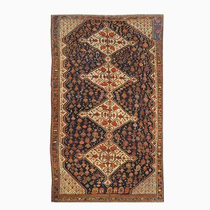 Antique Middle Eastern Rug in Kasghai with Diamonds, 1890s