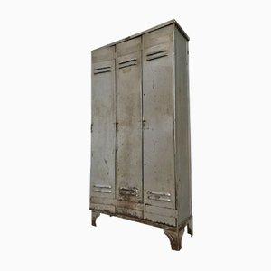 Taquilla industrial vintage de tres puertas de Strafor