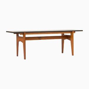 Table Basse en Teck et Marbre Noir par Hans-Agne Jakobsson, 1950s
