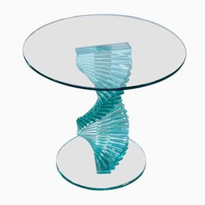 Vintage Spiral Glass Side Table from Ravello