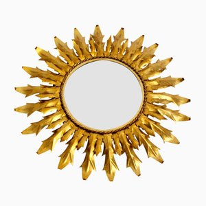 Gilt Iron Sunburst Mirror, 1960s
