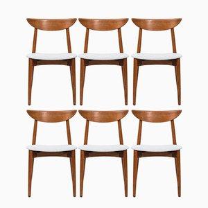 Chaises de Salon par Harry Østergaard pour Randers Møbelfabrik, Scandinavie, 1950s, Set de 6