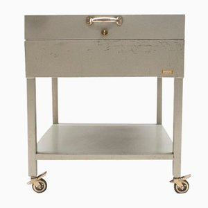 Lockable Industrial Metal Filing Cabinet from Fermata, 1960s