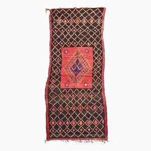 Alfombra Boujad marroquí grande vintage, años 70