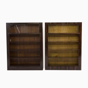 Art Deco Macassar Ebony Bookcases by H. Wouda for Pander, 1920s, Set of 2