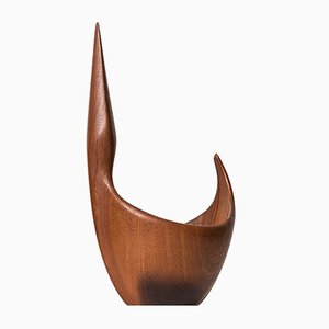 Mid-Century Teak Sculptural Bowl by Johnny Mattsson, 1950s