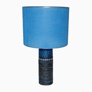 Blue Ceramic Table Lamp from Norrmans-Motola Finland, 1960s