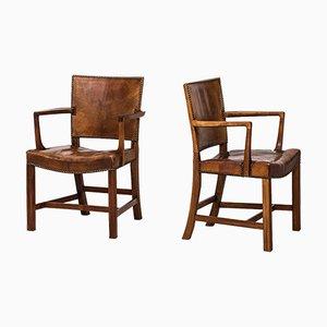 Vintage Modell 3758A Sessel von Kaare Klint für Rud. Rasmussen, 1930er, 2er Set