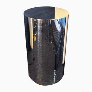 Stahl Säulentisch, 1970er