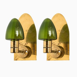 V-220 Scandinavian Wall Lamps by Hans-Agne Jakobsson, 1950s, Set of 2