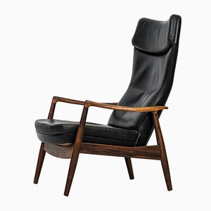 Sedia reclinabile in palissandro di Ib Kofod-Larsen per Povl Dinesen, anni '50