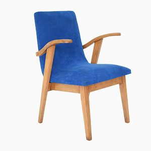 Polish 300-123 Blue Armchair by M. Puchala, 1950s
