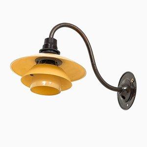 Lámpara de pared vintage de Poul Henningsen para Louis Poulsen, años 30