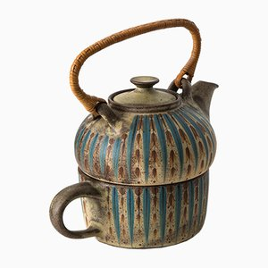 Mid-Century Teapot by Margrethe Dybdahl, 1960s