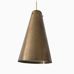 Lámpara colgante Mid-Century grande moderna de latón, años 50