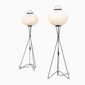 Mid-Century Floor Lamps, Set of 2