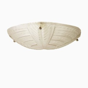 Large French Art Deco Ceiling Light from Noverdy, 1920s