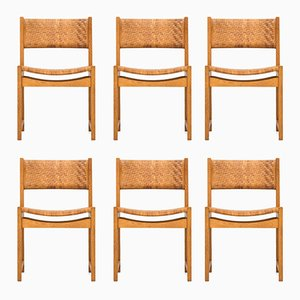 Mid-Century 350 Dining Chairs by Peter Hvidt & Orla Mølgaard-Nielsen for Søborg Møbler, Set of 6