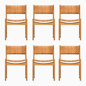 Sedie da pranzo 350 Mid-Century di Peter Hvidt & Orla Mølgaard-Nielsen per Søborg møbler, set di 6
