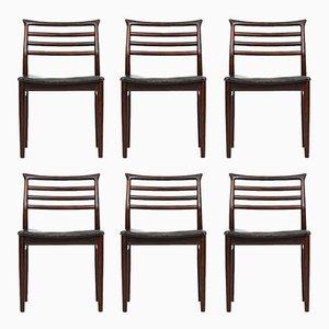 Chaises de Salon Mid-Century par Erling Torvits pour Sorø Stolefabrik, Set de 6