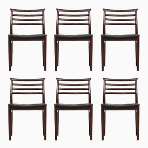 Mid-Century Dining Chairs by Erling Torvits for Sorø Stolefabrik, Set of 6