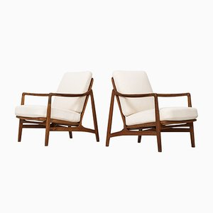 Mid-Century Model 117 Easy Chairs by Tove & Edvard Kindt-Larsen for France & Daverkosen, Set of 2