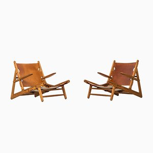 Mid-Century Easy Chairs by Børge Mogensen, Set of 2
