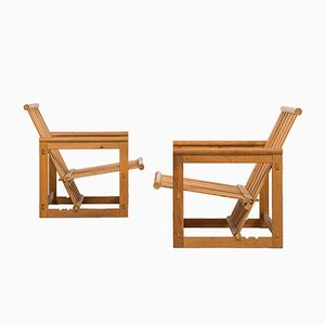 Mid-Century Lounge Chairs by Edvin Helseth for Trybo, Set of 2