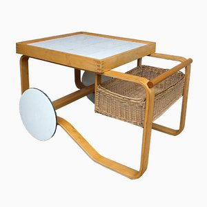 Mid-Century Model 900 Serving Cart by Alvar Aalto for Artek