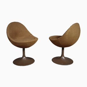 Brown Scandinavian Armchairs by B. Johanson, 1968, Set of 2