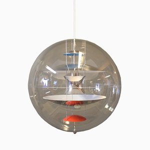 Lámpara colgante vintage esférica de Verner Panton, años 80