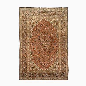 Alfombra antigua de lana con diseño clásico de Oriente Medio, década de 1900