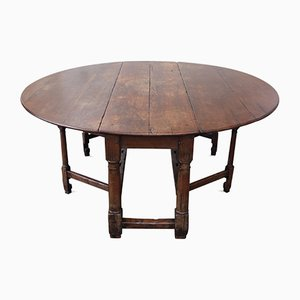 Antique Drop Leaf Table, 19th Century
