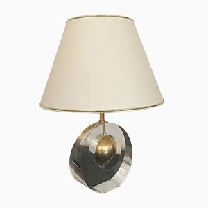 Vintage Acryl and Metal Lamp