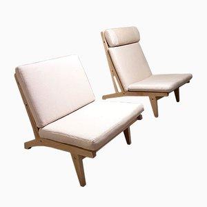 Vintage GE375 & GE370 Lounge Chairs by Hans Wegner for Getama, Set of 2
