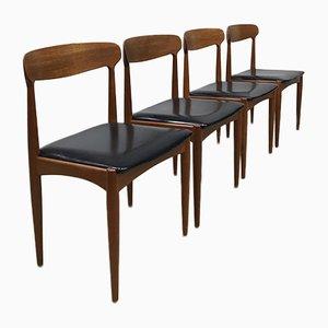 Sedie da pranzo di Johannes Andersen per Uldum, Danimarca, anni '60, set di 4