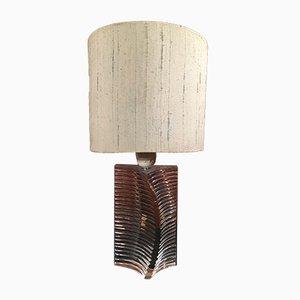 Lámpara de mesa vintage de vidrio de Daum, años 60