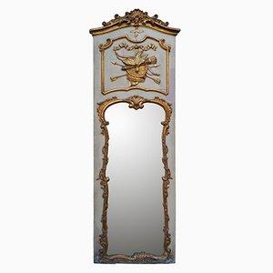 Espejo rococó tallado a mano y bañado en oro, siglo XVIII