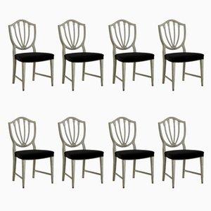 Antike Pferdehaar Stühle, 8er Set