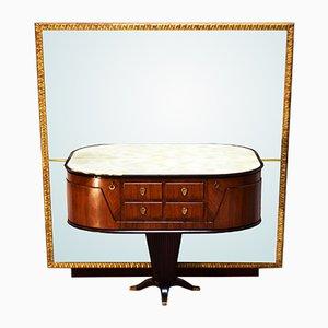 Consola italiana con espejo de Rima, años 50